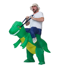 Christmas Dinosaur Costume Adult Inflatable Dino Costumes Halloween Costume for Men Woman Cosplay T rex Funny Party Dress