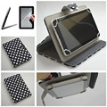New Style Polka Dot Grain For Alcatel One Touch Pixi 7 3G 7 inch Universal Tablet PU Leather Case 10 Colors 2 Gifts