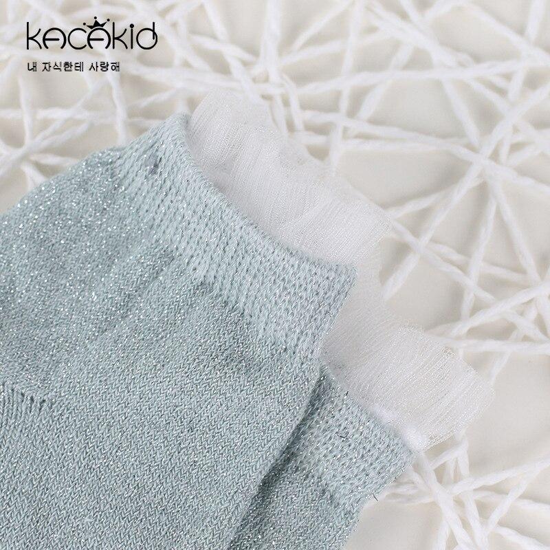 Kacakid baby girls bling socks princess Socks baby cute socks lovely transparent sumer lace sock