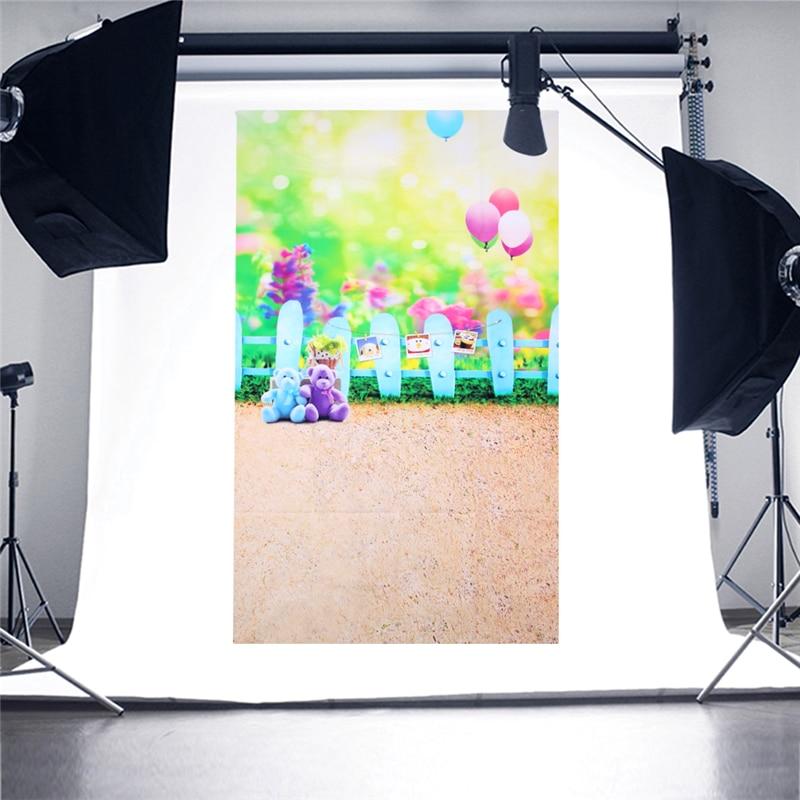 OOTDTY New Balloon Bear Photo Background Vinyl Studio Photography Backdrops Prop DIY blooming flower photo background vinyl studio photography backdrops prop diy r179t drop shipping
