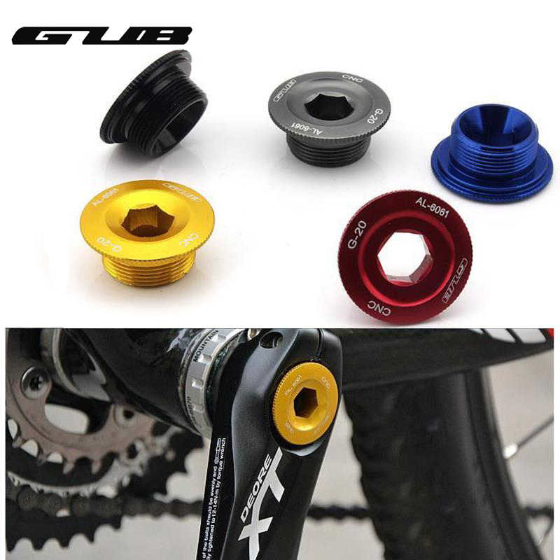 GUB M20 G-20 Trapas Kettingwiel BB Cranks Cover Cups Arm Bolt CNC AL-6061 MTB Crankstel Fixing Bolt Schroef CNC voor SHIMANO