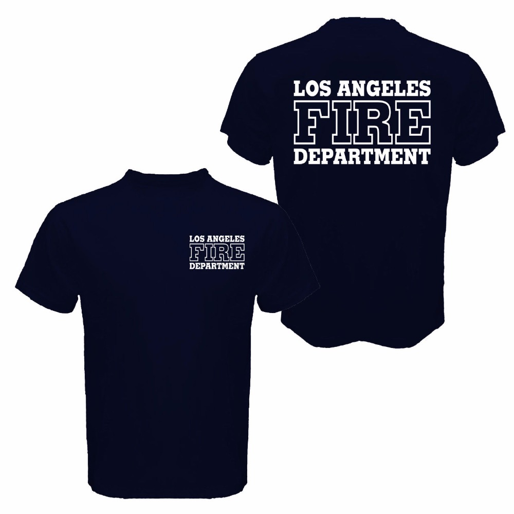 Для мужчин; высокое качество Топы корректирующие Hipster Футболки для девочек Лос-Анджелес огонь отправление Для мужчин t поиска и спасения сан...