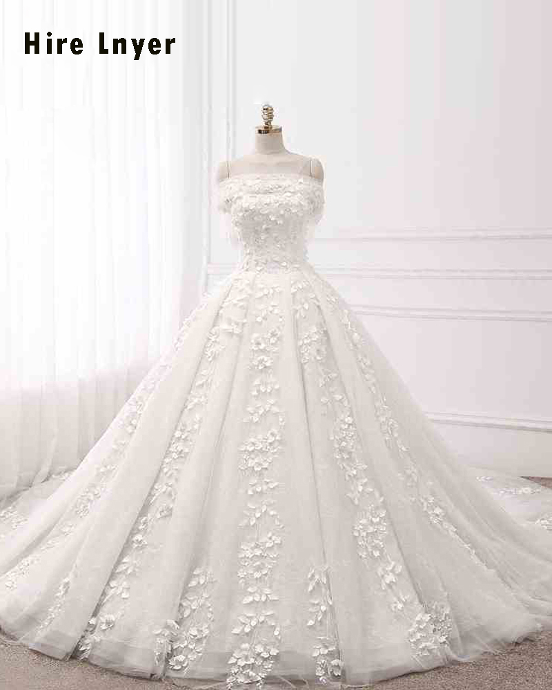 NAJOWPJG Off The Shoulder Short Sleeve Lace Up Princess Wedding ...
