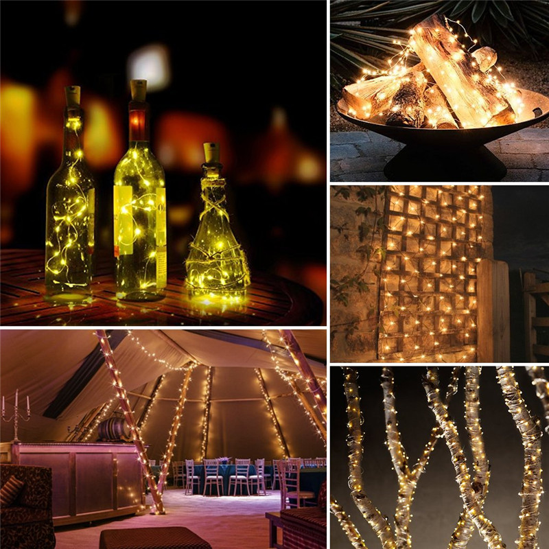 Image 4 - 72ft 22M 200 LED Solar Strip Light Home Garden Copper Wire Light String Fairy Outdoor Solar Powered Christmas Party Decor-in LED String from Lights & Lighting on