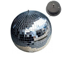 25cm Diameter Clear Glass Rotating Mirror Ball 10 Disco DJ Party Lighting With Mirror Ball Motor