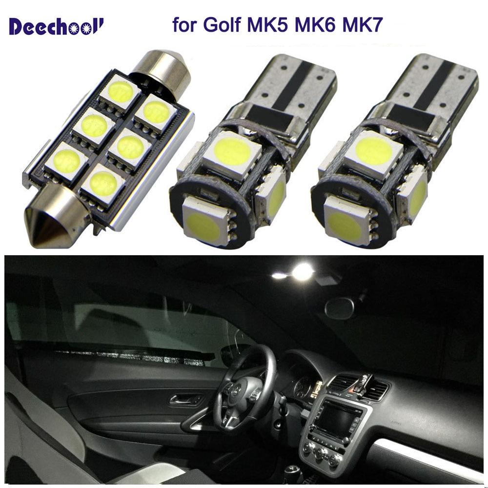 Seat Leon Xenon DEL Blanc lumineux Number Plate Light unités Upgrade Aucune erreur