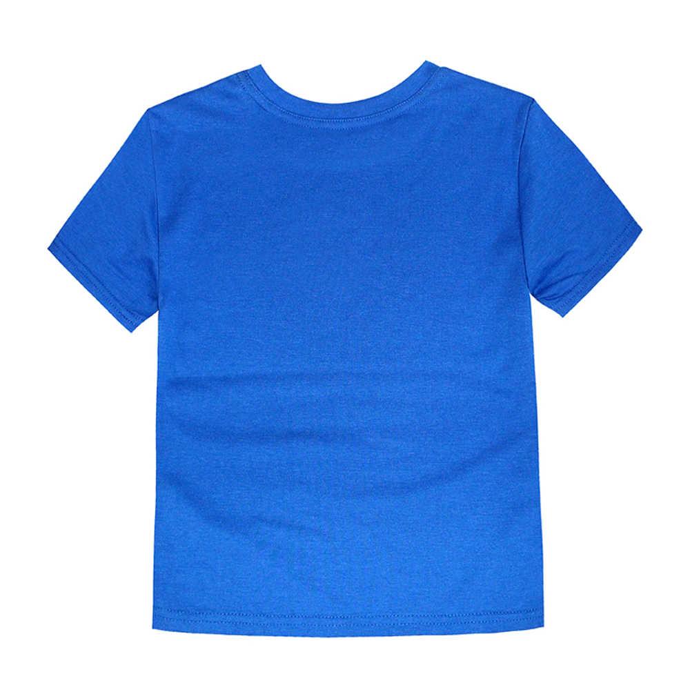Camisetas para niños azul real con logotipo de Flash