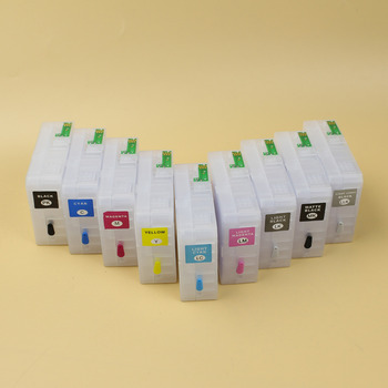 9 pcs/lot 80ml Empty refillable ink cartridge with ARC chip for Epson 3800 3800C 3805 3850 3880 3890 printer T5801-T5809