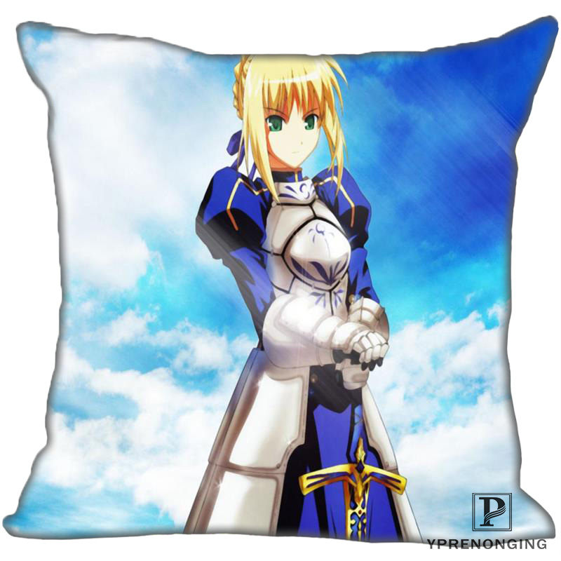 Best Custom Fate-Stay-Night (2)@ Pillow Case Bedroom Home Square Zipper Pillowcases (One Side) #190404-01-124