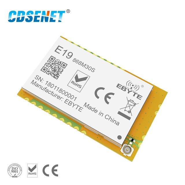 1pc lora 868 mhz sx1276 1w módulo rf E19 868M30S iot spi longa distância 868 mhz sem fio rf transmissor receptor para arduino circuito