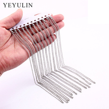 New Arrival 12pcs Silver Color Alloy Necklace link Chain For Jewelry Making DIY Accessories Wholesale