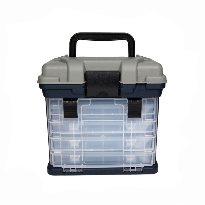 1 Pcs 26*16*26cm 4 Layer PP+ABS Fishing Tackle Box High Quality Plastic Handle Fishing Box Fishing Tools Storage Box