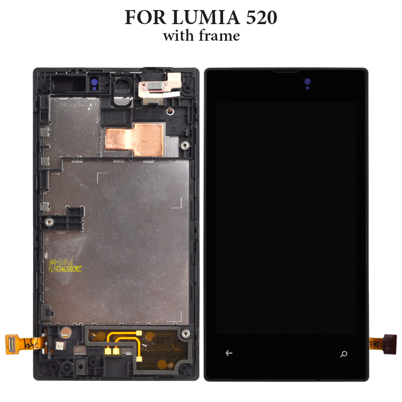 For Nokia 650 RM 1152 RM 1154 RM 1109 LCD Touch Screen Digitizer Assembly Parts For Nokia Lumia 520 620 LCD Display With Frame in Mobile Phone LCD Screens from Cellphones Telecommunications