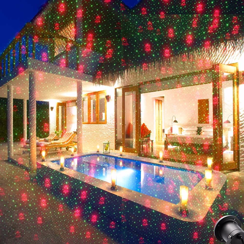 christmas lights outdoor laser spotlight waterproof 20 pattern outdoor laser projector light christmas decorations for home club in stage lighting effect