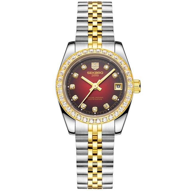 SEKARO 2822 Switzerland watch women luxury genuine business watch ladies automatic mechanical watch fashion women's waterproof цена и фото