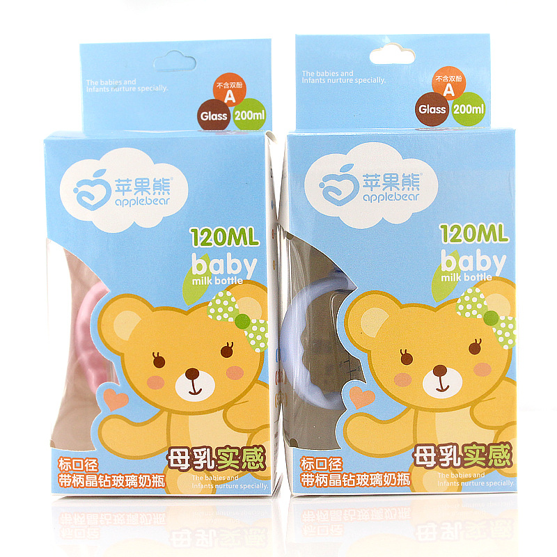 120ml Glass Bottle Newborn Standard Diameter Feeding Glass Bottle Baby Juice Bottle in Bottles from Mother Kids