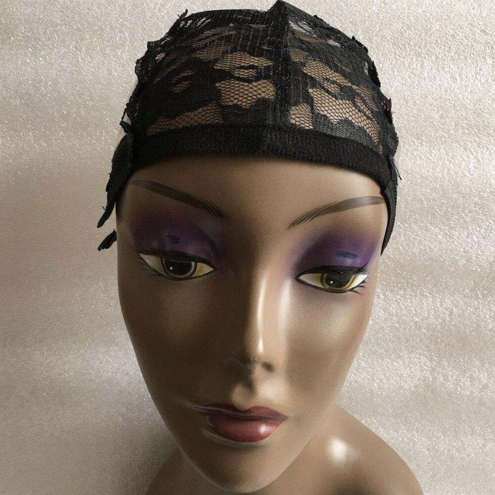 5 шт. черный пластик парик решений кепки для изготовления волос машинные парики Чистая с регулируемым ремешком