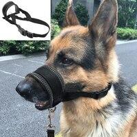 Adjustable Mesh Breathable Soft Padded Pet Head Collar Anti Bark Bite Chew Dog Training Halter Nylon