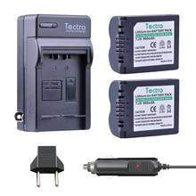 Tectra 2 шт. cga-s006 CGA-S006E литий-ионный Батарея + цифровой Зарядное устройство для Panasonic DMC fz7 FZ8 FZ18 FZ28 FZ30 fz35 fz38 FZ50 DMW bma7