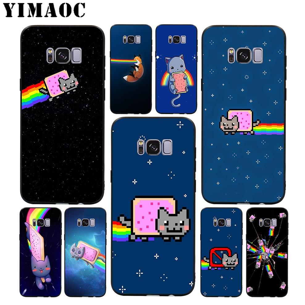 Yimaoc Nyan Cat Rainbow Cute Soft Case For Samsung Galaxy S10 S10e S9 S8 A6 Plus S7 S6 Edge A7 A5 A3 J6 Note 9 8: Nyan Cat Ring Wedding At Reisefeber.org