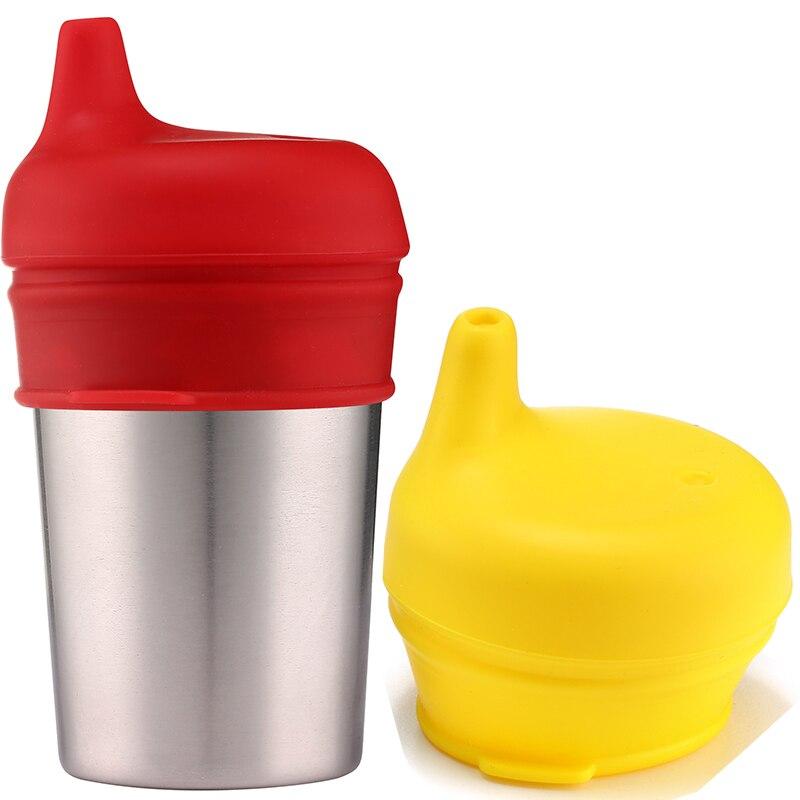 Spekids Pack de 4 tapas de silicona con grado de BPA Sippy de grado - Alimentación - foto 3