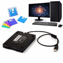 3.5 inch 1.44MB FDD Black USB Portable External Interface Floppy Disk FDD External USB Floppy Drive for Laptop