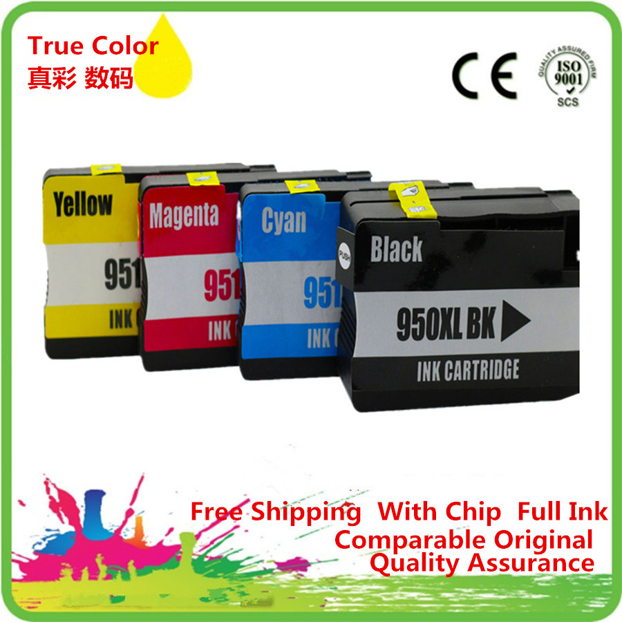2 Set Replacement For HP 950 951 Ink Cartridge For HP Officejet Pro 8100 8600 251dw 276dw 8630 8650 8615 8625 Printer Full Ink