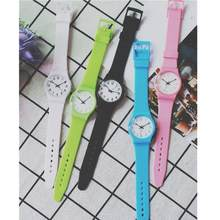 Fashion Simple Girlfriend Watch Small Fresh Soft Girl Watch Silicone Band Leisure Watches Relogio Feminino Montre Homme(China)