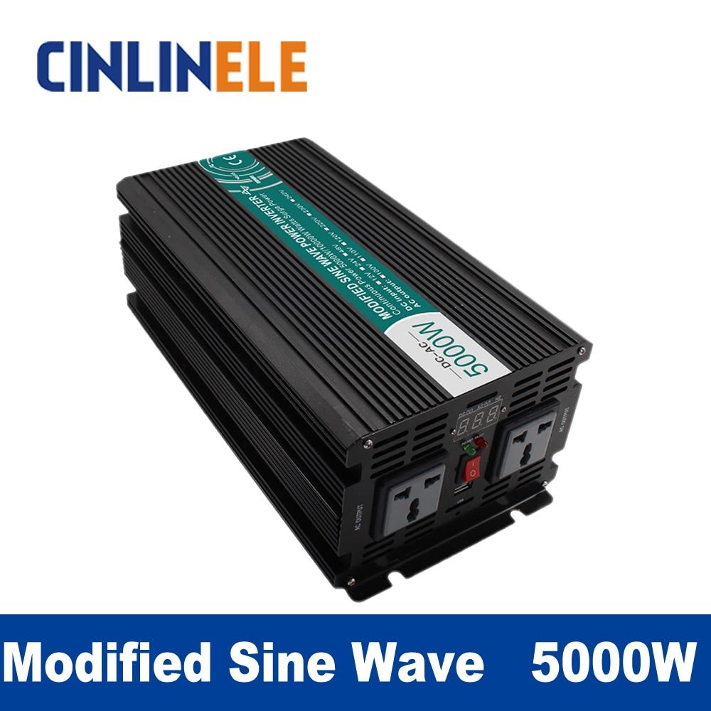 Modified Sine Wave Inverter 5000W CLM5000A DC 12V 24V 48V to AC 110V 220V 5000W Surge Power 10000W Power Inverter  48V 110V 5000w dc 48v to ac 110v charger modified sine wave iverter ied digitai dispiay ce rohs china 5000 481g c ups