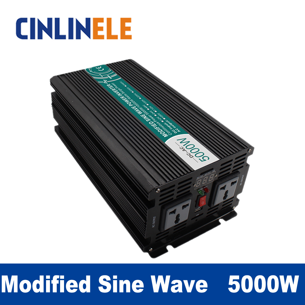 Modified Sine Wave Inverter 5000W CLM5000A DC 12V 24V 48V to AC 110V 220V 5000W Surge Power 10000W Power Inverter  48V 110V pure sine wave inverter 5000w clp5000a dc 12v 24v 48v to ac 110v 220v 5000w surge power 10000w