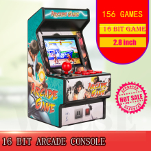 Лучшая популярная 16 бит мини аркадная мини ретро консоль портативная Классическая игровая консоль ручной плеер с 156 играми