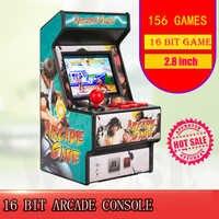 Best popolare 16 bit mini arcade mini retro console portatile tenuto in mano del gioco classico lettore console portatile con 156 giochi