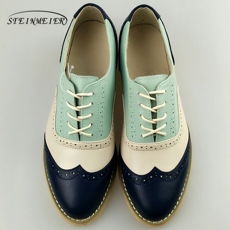 women genuine leather oxford shoes woman flats handmade vintage retro lace up loafers brown casual sneakers flat shoes for women smile circle genuine leather sneakers women lace up flat shoes women comfortable air cushion sneakers 2018 casual shoes