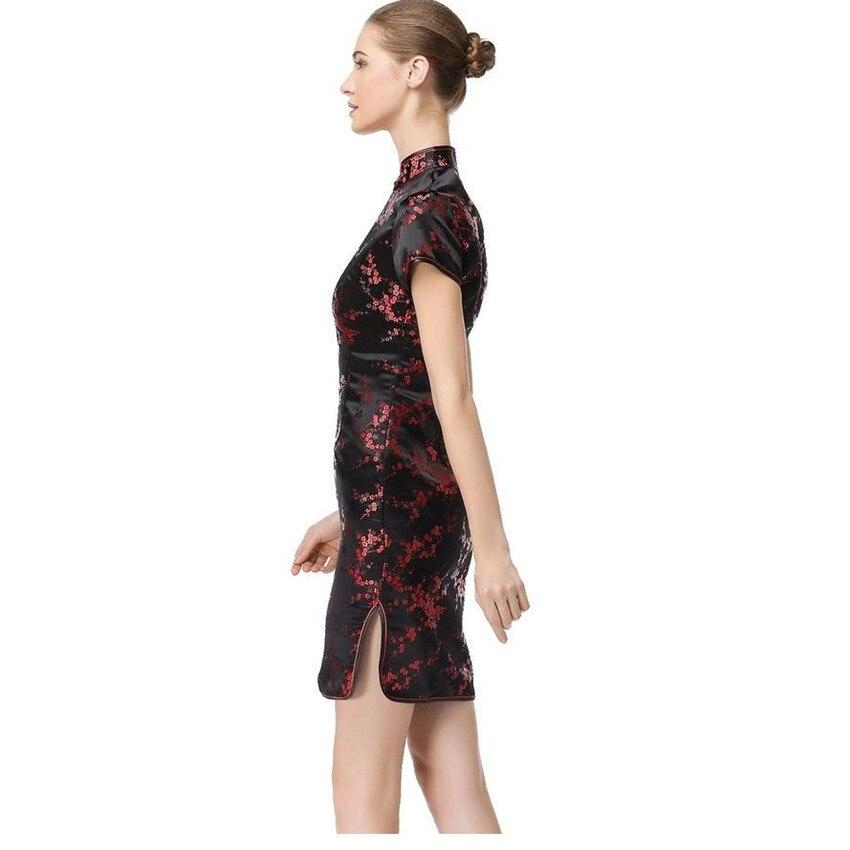 Black Red Chinese Women Traditional Dress Short Mini Qipao Cheongsam Top  Flower Plus Size S M L XL XXL XXXL 4XL 5XL 6XL MH 04-in Cheongsams from  Novelty ... 86a2ea34974a