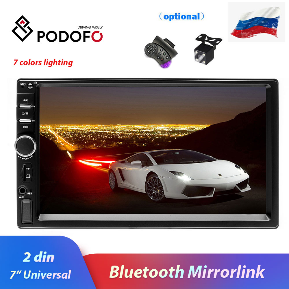 Podofo 2 din Car Radio Autoradio 7 Car Multimedia Player 2 Din audio Stereo Auto Radio