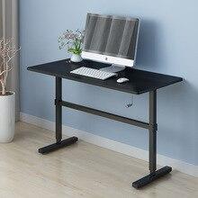 Регулируемая Эргономика простой Офисный Компьютерный стол кровать ручная подтяжка портативный ноутбук может быть поднят стоячий стол 100*60 см