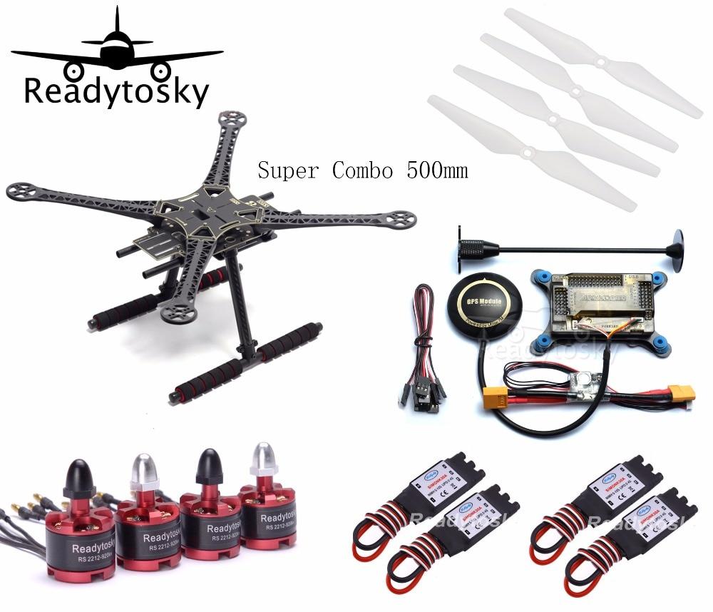 Super Combo  500mm 500 S500 Quadcopter Frame APM2.8 NEO-M8N 8N GPS Power Module 2212 920KV Motor 30A Simonk ESC 9450 Propeller f450 multi copter quadcopter rack kit apm2 8 8n m8n gps 2312 920kv motor readytosky 40a opto esc super combo