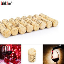 QuickDone 10Pcs/lot Unused Natural Straight Bottle Wood Corks Plugs Wine Bottle Stopper Plug Sealing Caps Bar Tools 10AKC5250(China)