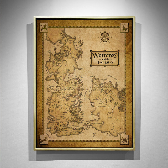 """Middle Earth"" Vintage Map 1"