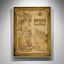 Vintage Map Poster Game Of Thrones