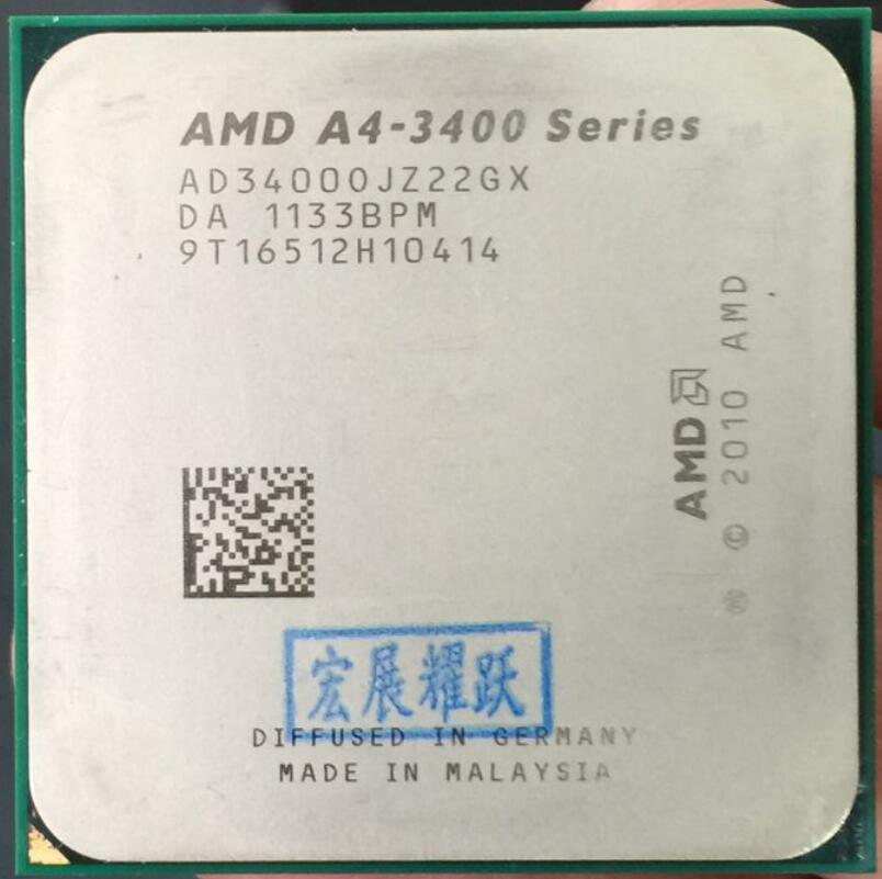 AMD A4-Series A4-3400 A4 3400  Dual-Core Cpu 100% Working Properly Desktop Processor 100% Working Properly Desktop Processor