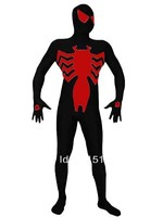 New 2014 Symbiote Black Red Spandex Symbiote Spiderman Costume