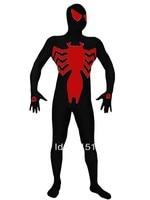 New 2014 Symbiote Black Red Spandex Symbiote Spiderman Costume