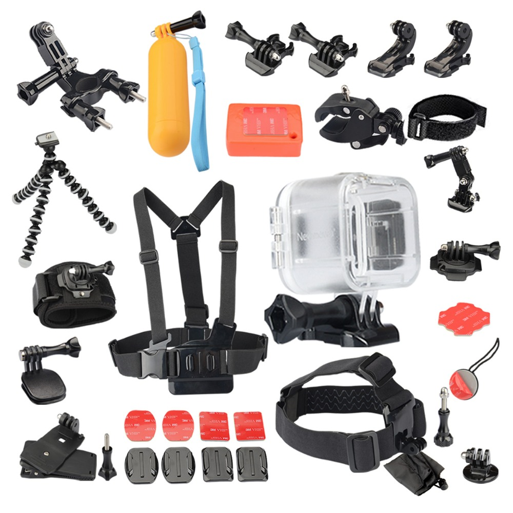 KingMa Transparent Waterproof Case 19-in-1 Accessories Kit for Polaroid Cube and Cube+ Action Video Camera Underwater 45M