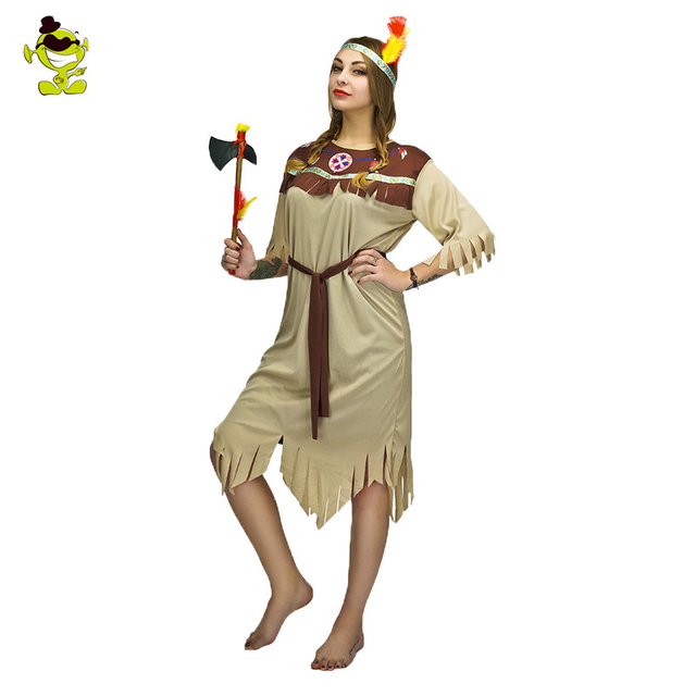 female native american costume womans cosplay carnival halloween costume party set caveman cosplay costumes - Native American Costume Halloween