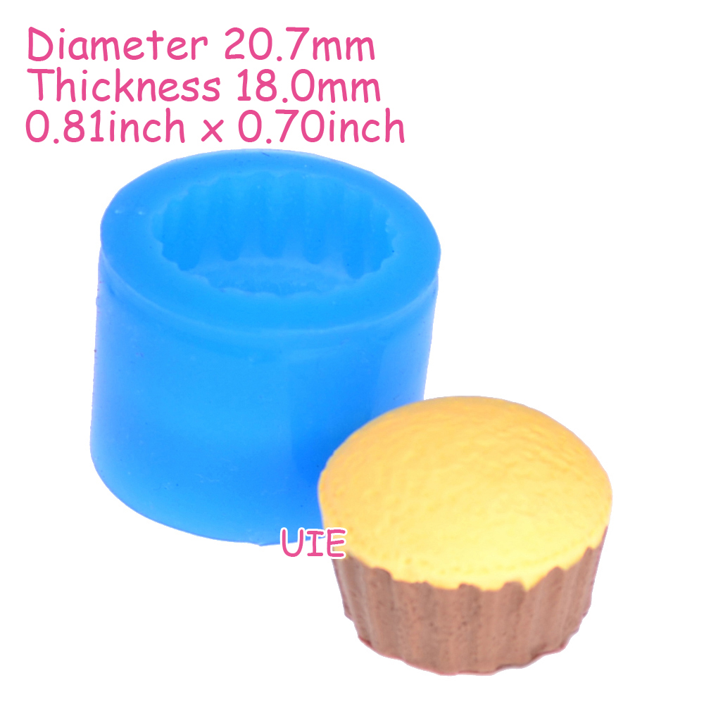 Free Shipping GYL086U 3D Cupcake 22mm Mold Silicone Flexible Mold Deco Kawaii Miniature Sweets Mold Fimo Jewelry Charms Wax Soap