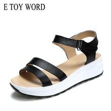 E TOY WORD Fashion Summer sandals women nurse shoes leather flat maternity Comfortable sandalias mujer 2018