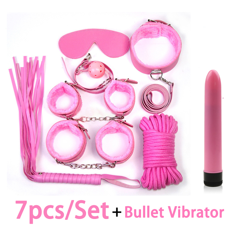 <font><b>Set</b></font> <font><b>Bondage</b></font> with <font><b>Vibrator</b></font> Anal <font><b>Toy</b></font> Fetish Woman <font><b>Sex</b></font> <font><b>Toys</b></font> for Couples Nylon Nipple Clamps Handcuffs Eye Mask Erotic <font><b>Toys</b></font> image