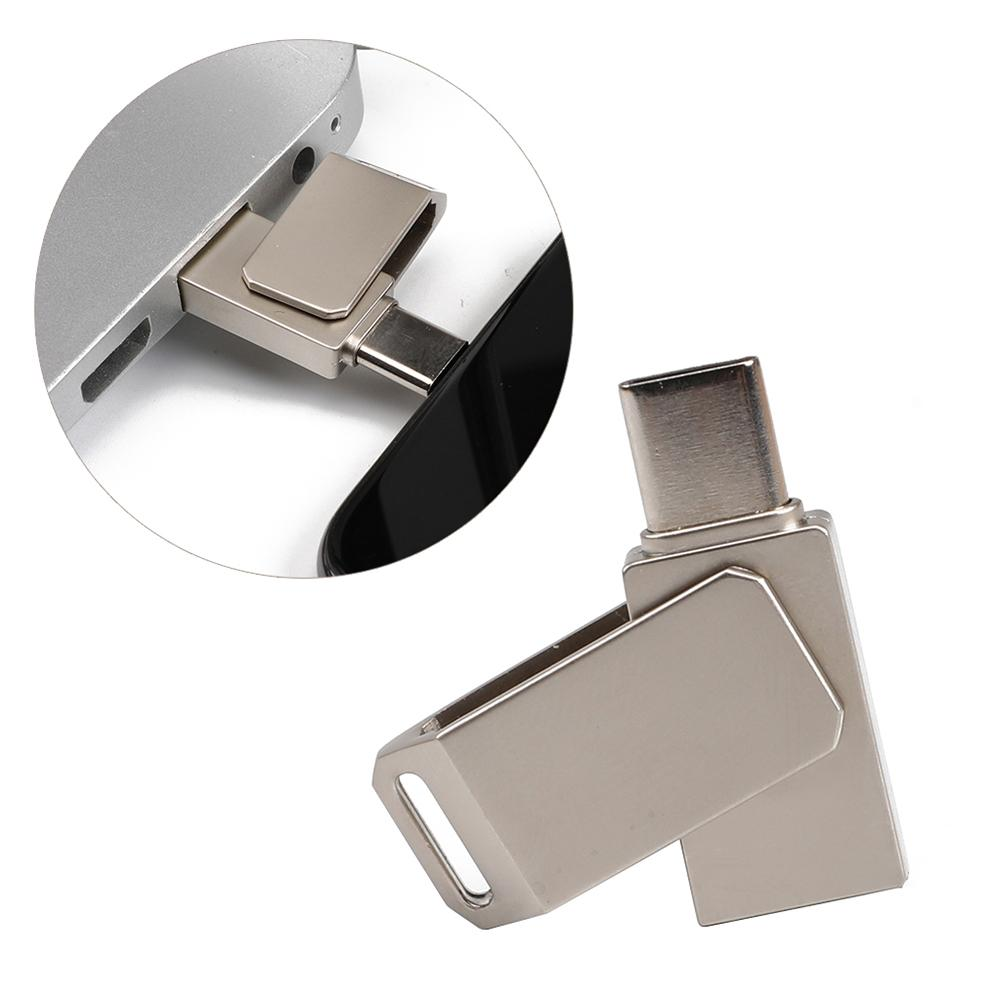 Hot 8/16/32/64GB USB Flash Drive Rotation Type C Male to USB 2.0 Female OTG Adapter Converter U Disk Metal U Disk Memory Stick hot 8 16 32 64gb usb flash drive rotation type c male to usb 2 0 female otg adapter converter u disk metal u disk memory stick