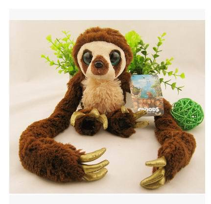 Free shipping 25cm  crazy primitive plush toys belt Croods long arm monkeys fair young children's toys